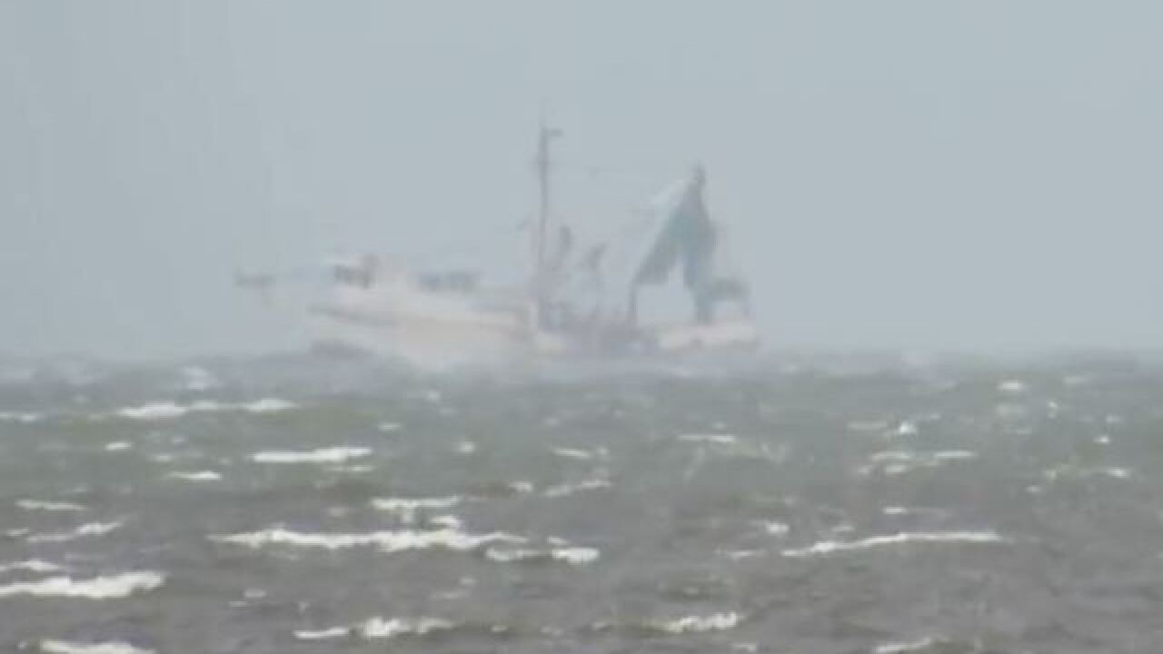 Coast Guard searching for shrimp boat crewman