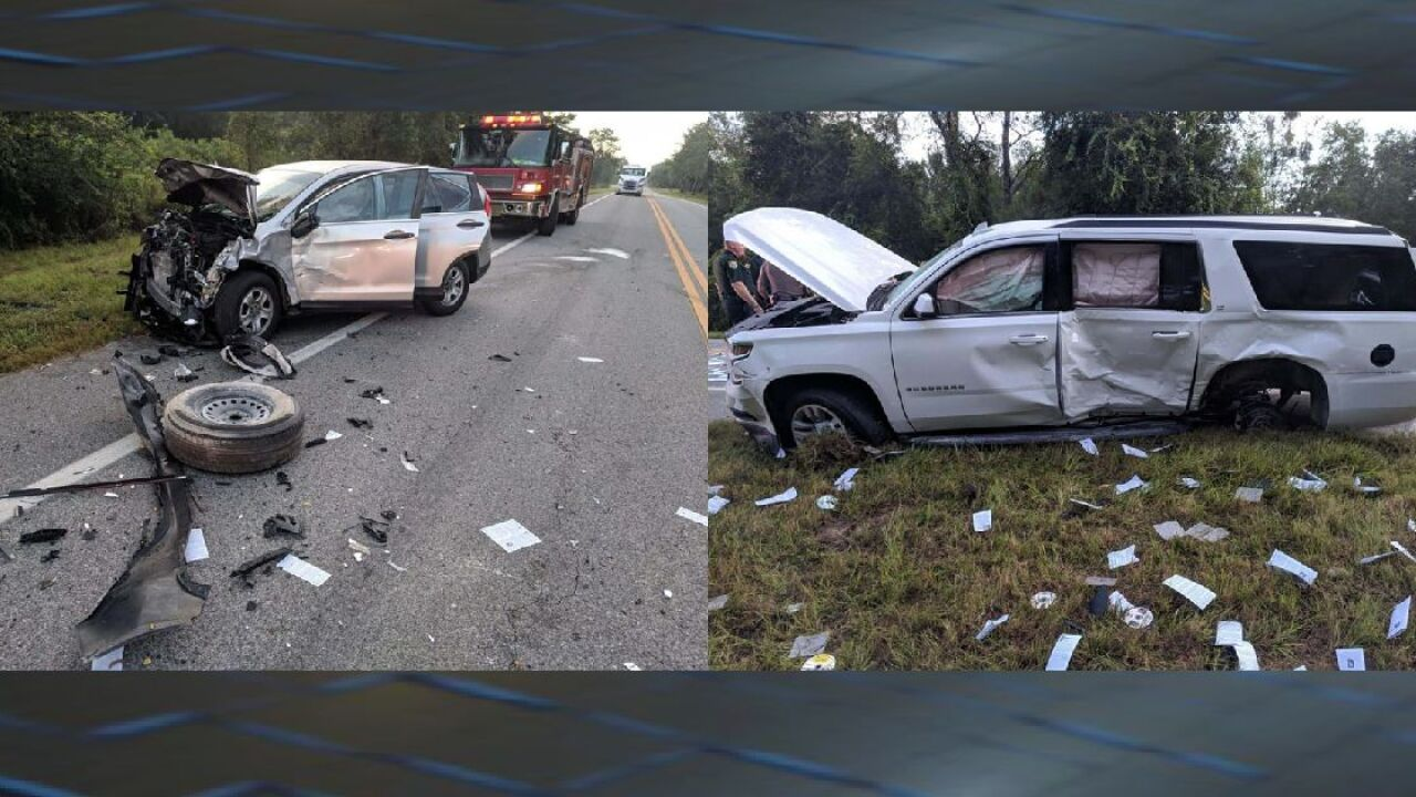 Two car accident in Suwannee County injures four