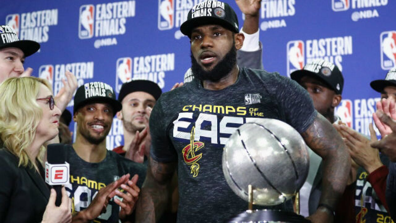 LeBron James wills Cavaliers into the NBA finals