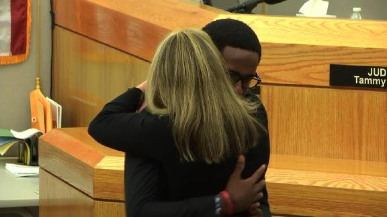 Brother of Botham Jean forgives, hugs Amber Guyger before she heads to prison to start 10-year sentence