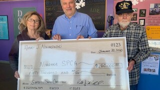 "Veteran who ""just likes dogs"" donates $50,000 to New York SPCA"