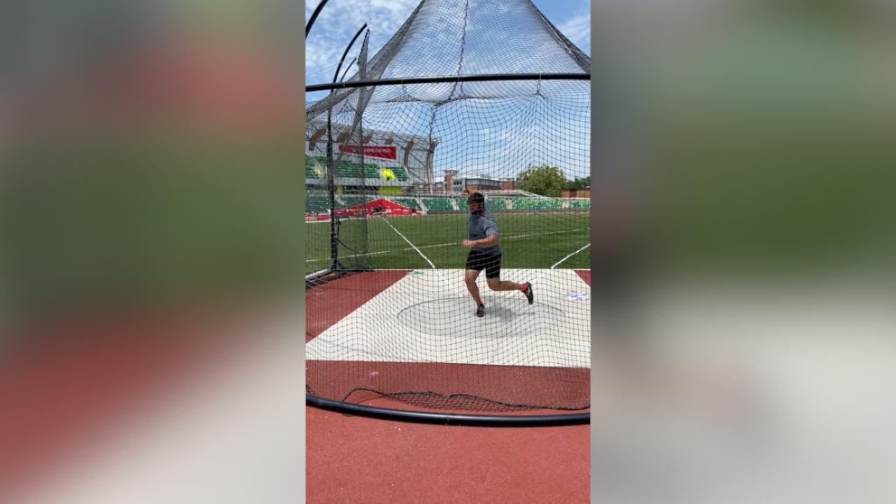 Mason Finley discus thrower