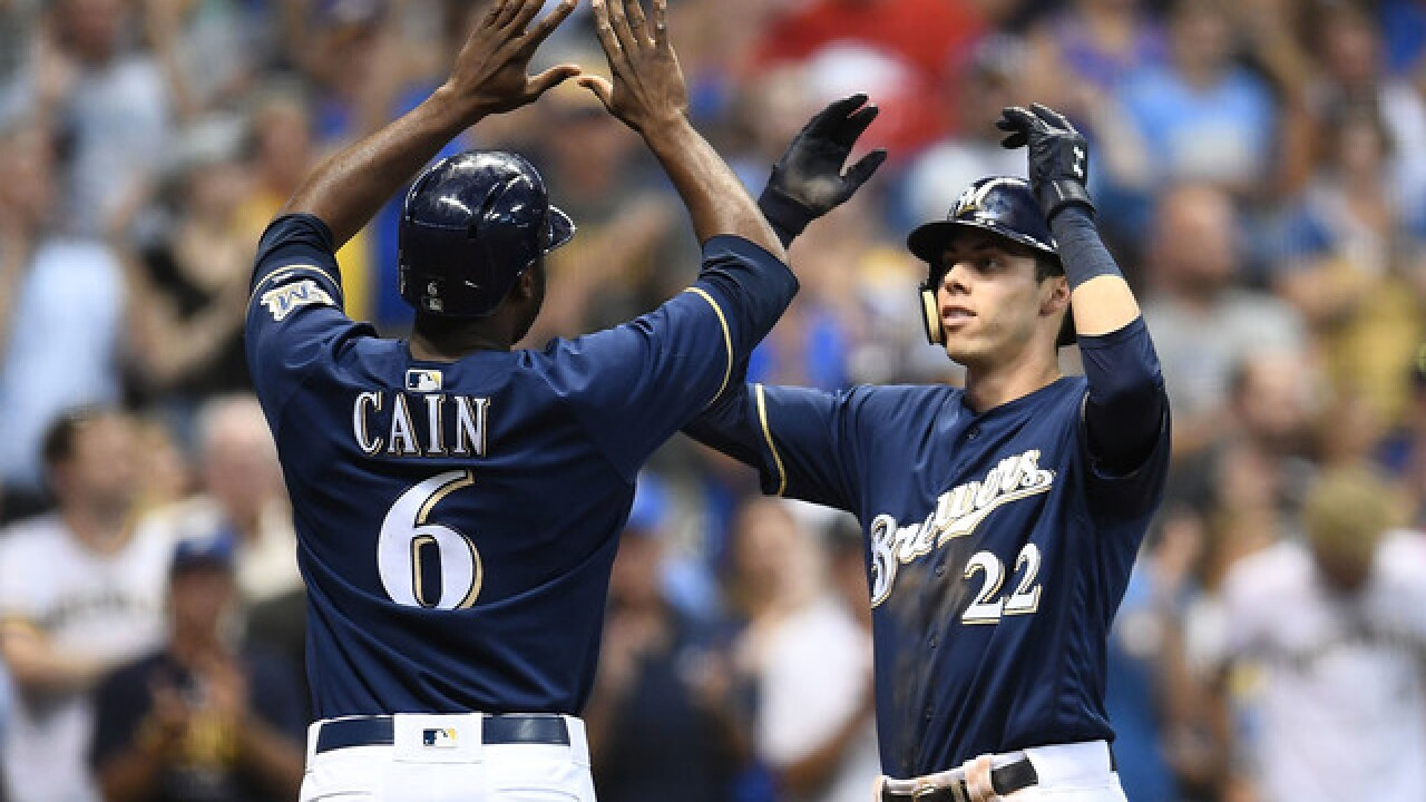 Saladino's sac fly in 10th lifts Brewers past Nationals