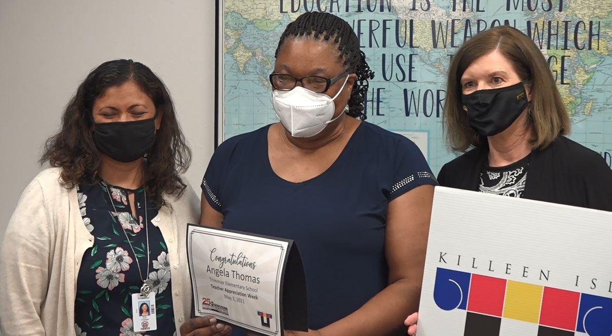 Angela Thomas KISD Winner of Teacher Appreciation Week Prize