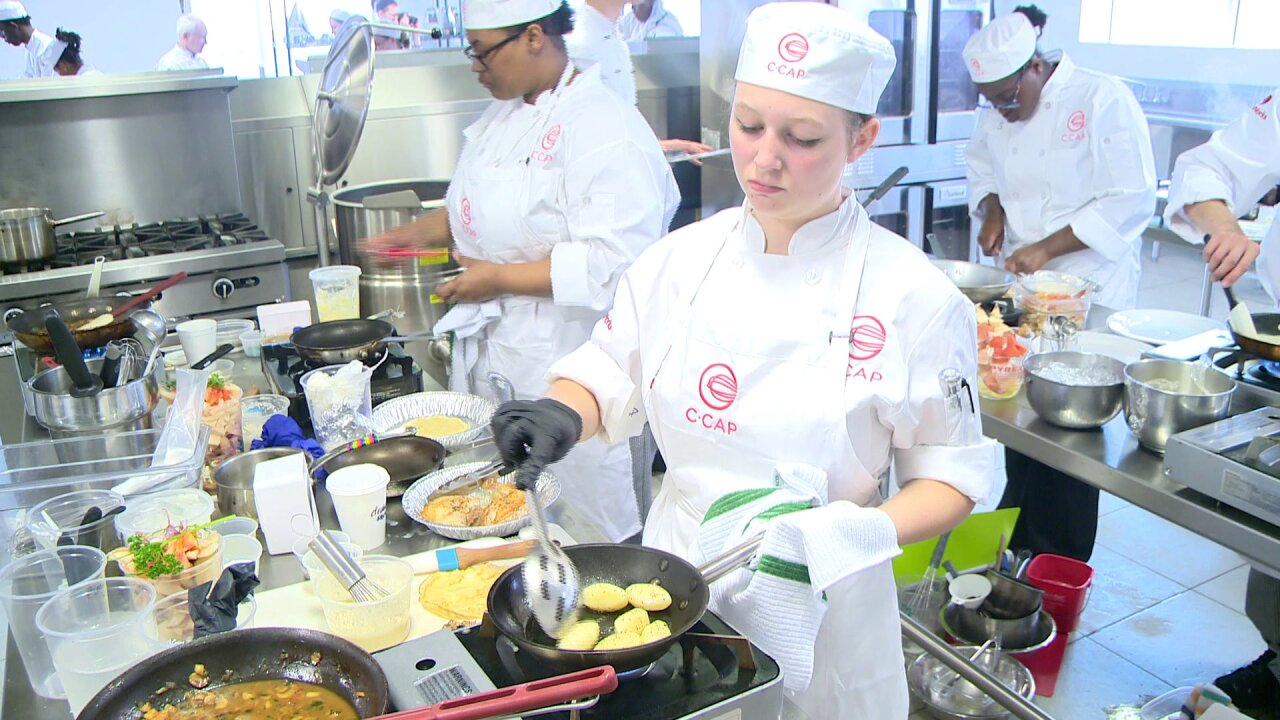 Hampton Roads students participate in cooking competition for scholarships