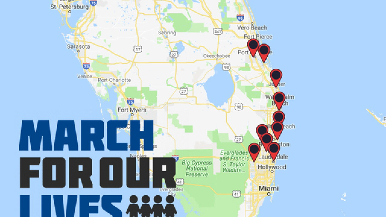 Local South Florida March for Our Lives events on Saturday, March 24