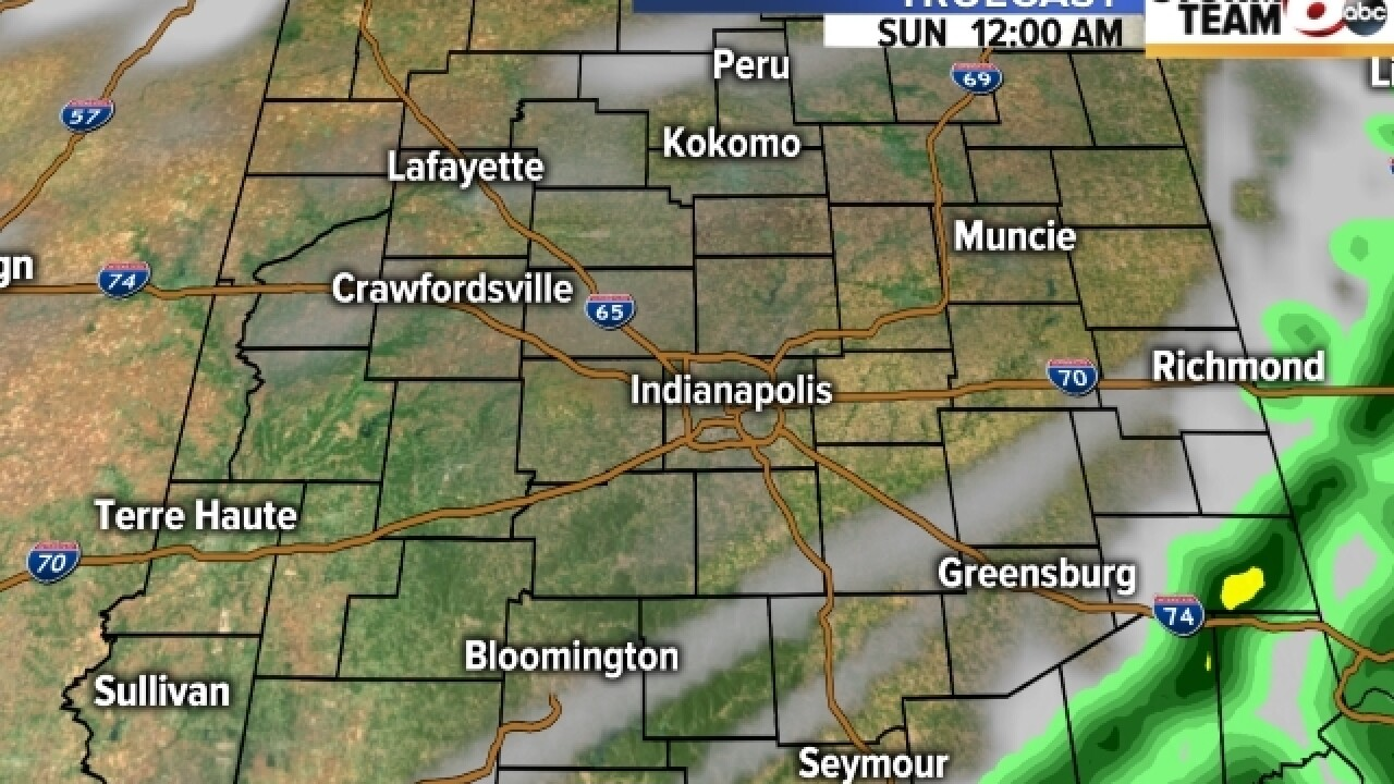TIMELINE: T'storms will move across C. Indiana