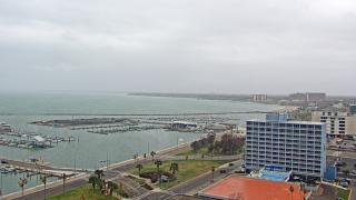 Rain over Downtown Corpus Christi