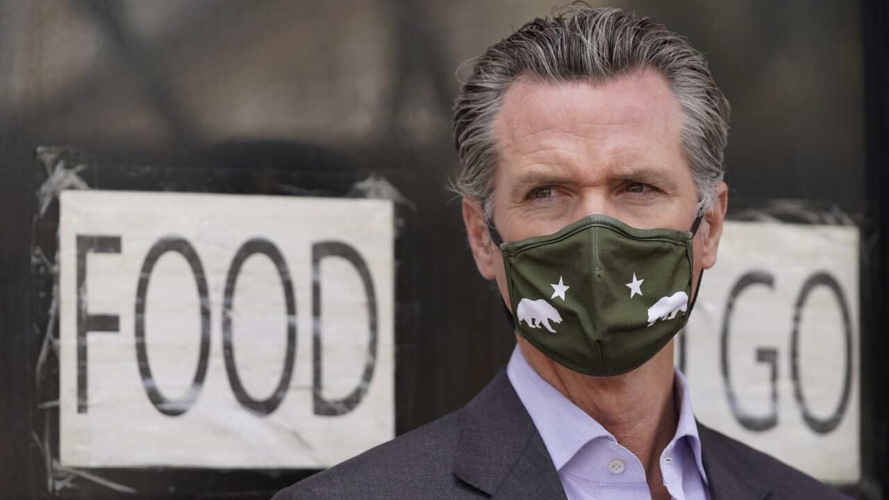 Newsom says to-go cocktails are here to stay