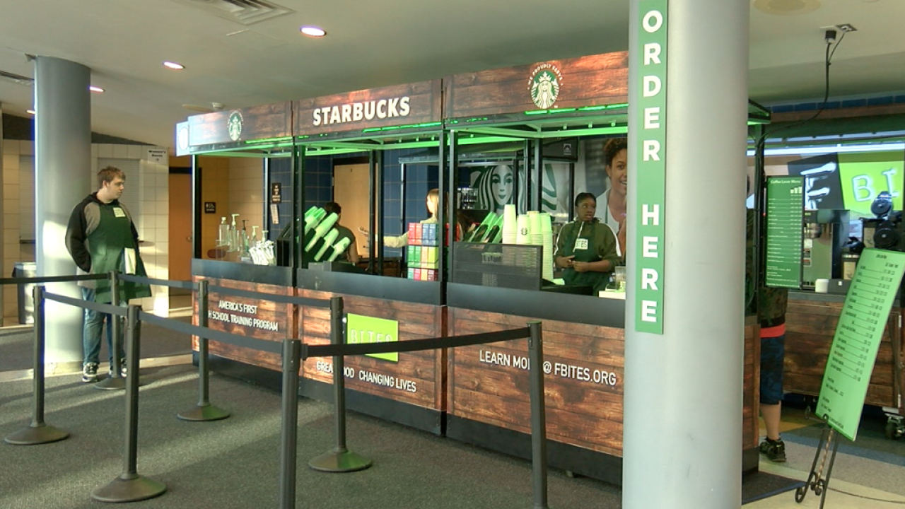 Niagara Falls High School's Starbucks coffee shop motivates students in the classroom