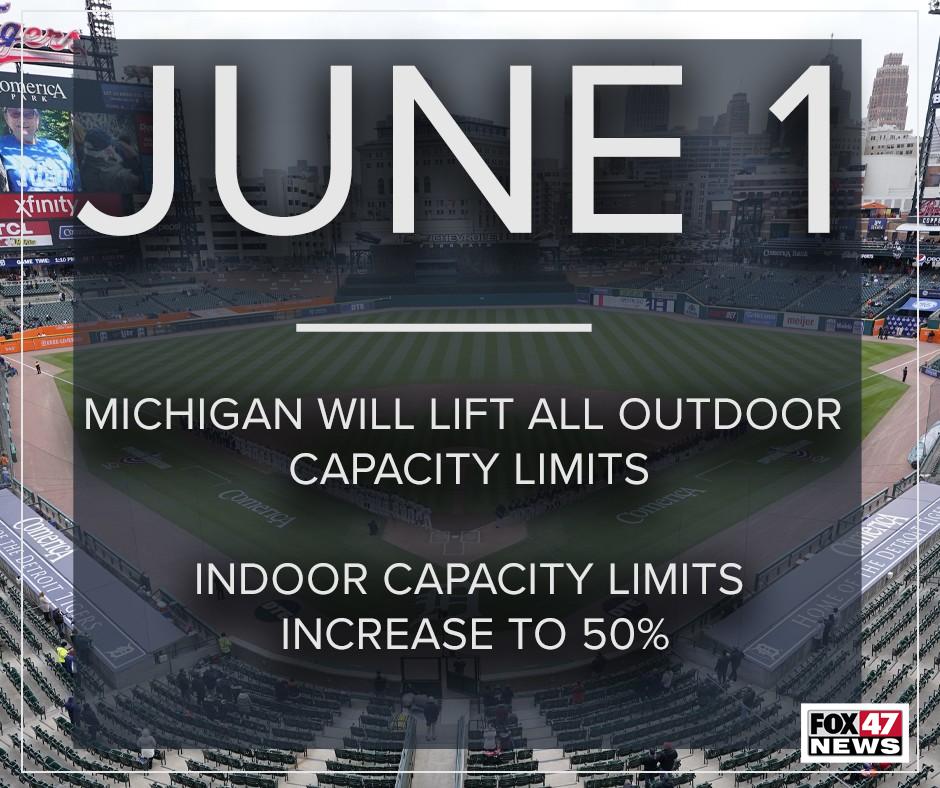 June 1 COVID-19 Capacity Limits Lifted