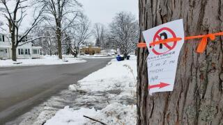 No parking signs in Hamilton's Highland Park neighborhood