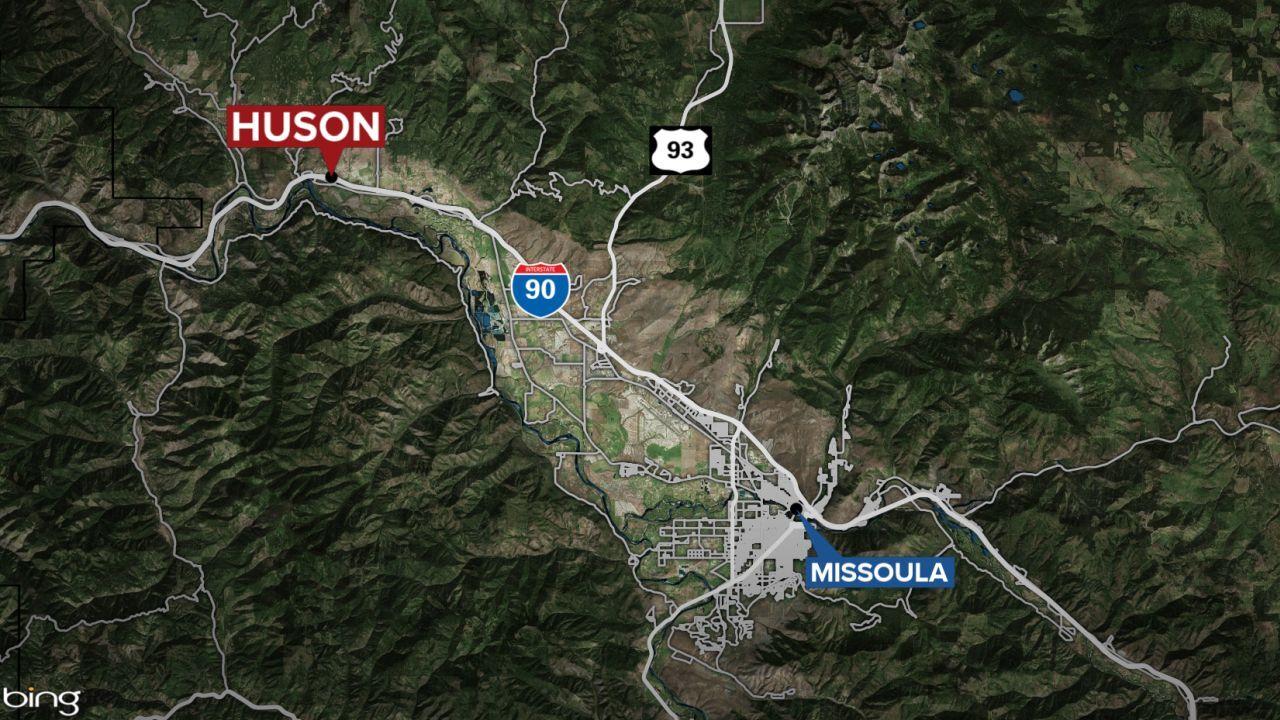 huson montana map