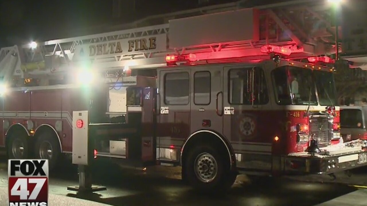Early morning fire in Delta Township
