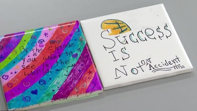 Photos: Students Decorate Tiles, Spread Loving Messages