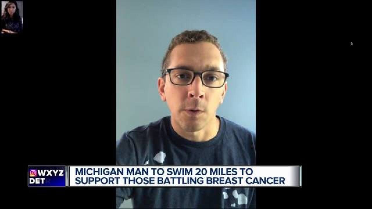 Man to swim across Lake Michigan for fundraiser
