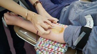 Blood donation donating