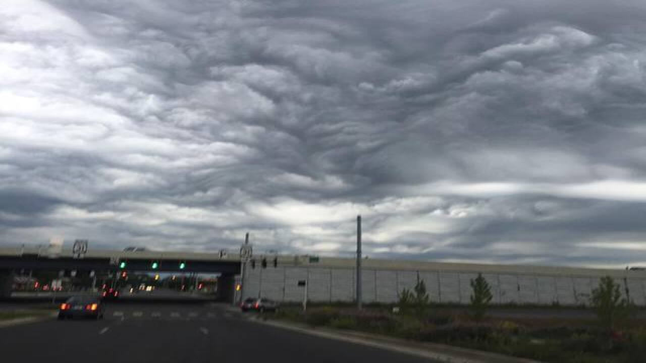 CRAZY clouds over Indianapolis Friday morning