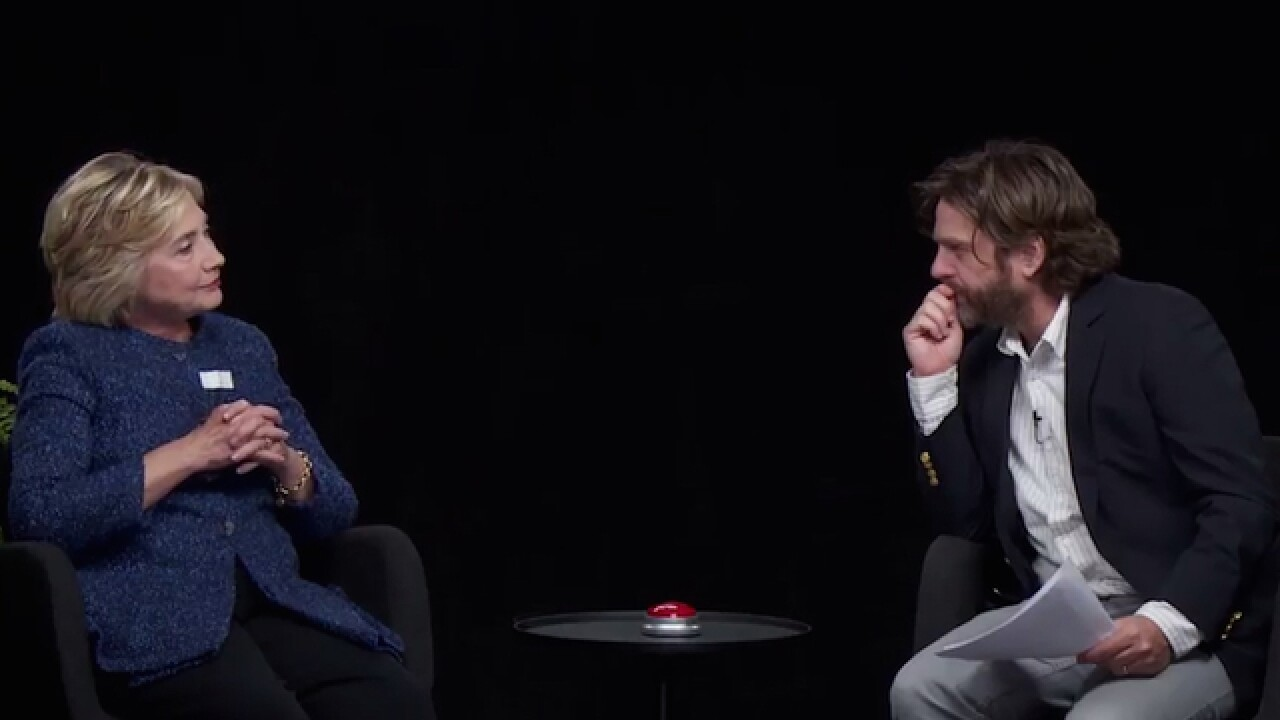 Hillary Clinton interviewed by Zach Galifianakis on 'Between Two Ferns'