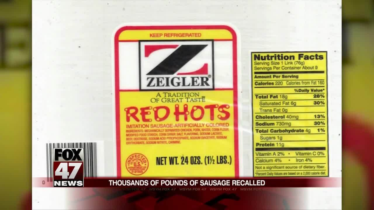RECALL: Zeigler Sausage Products May Contain Metal Particles