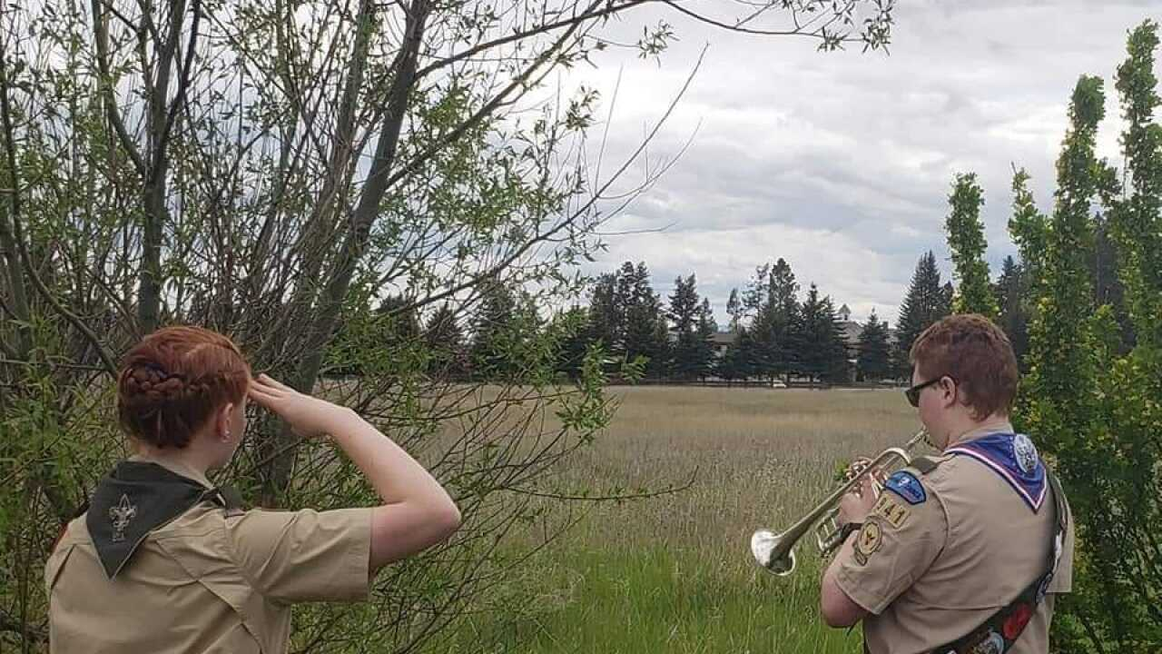 """Columbia Falls Eagle Scouts honor veterans as part of """"Taps across America"""""""