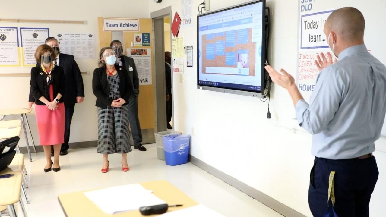 Pam Northam visits Oscar Smith Middle School (March 18) 3.jpg