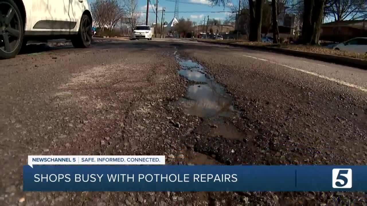 Potholes in Edgehill