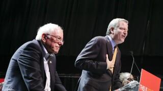 Bernie Sanders and NYC Mayor Bill De Blasio