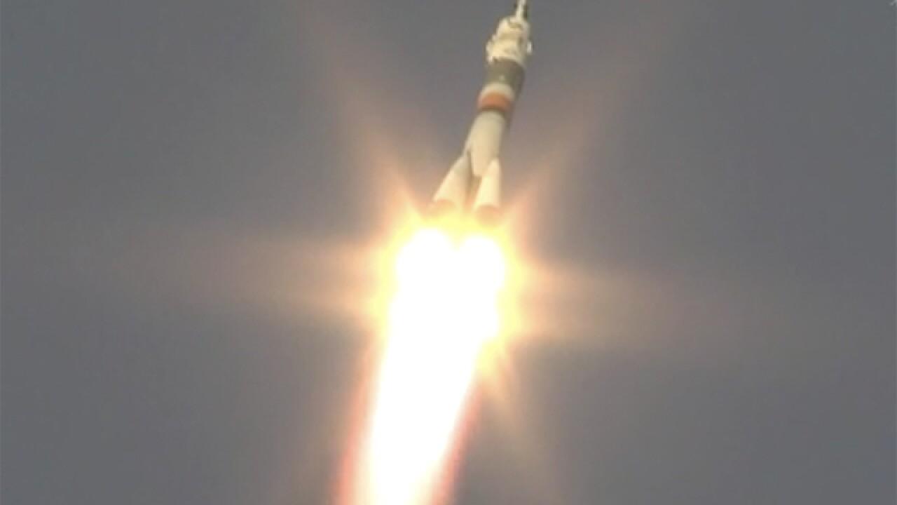 Three astronauts blast off, now headed to International Space Station