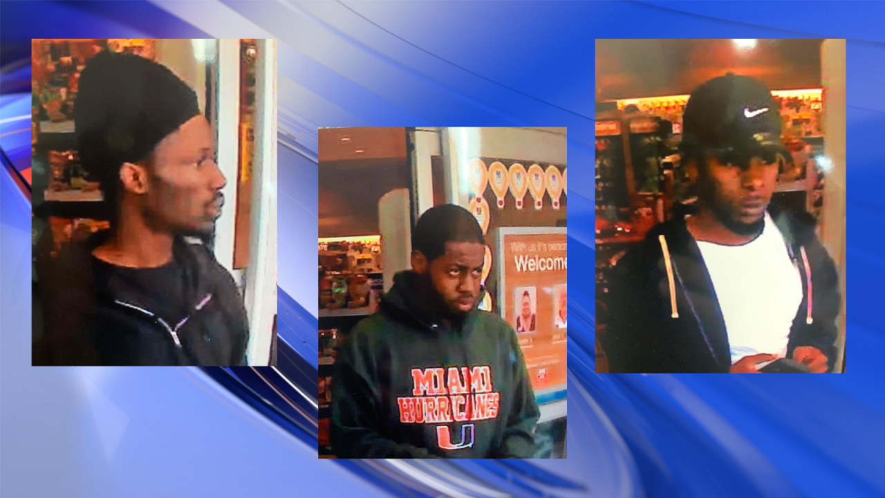 Isle of Wight Co. Sheriff's Office searching for three suspects after larceny from a vehicle