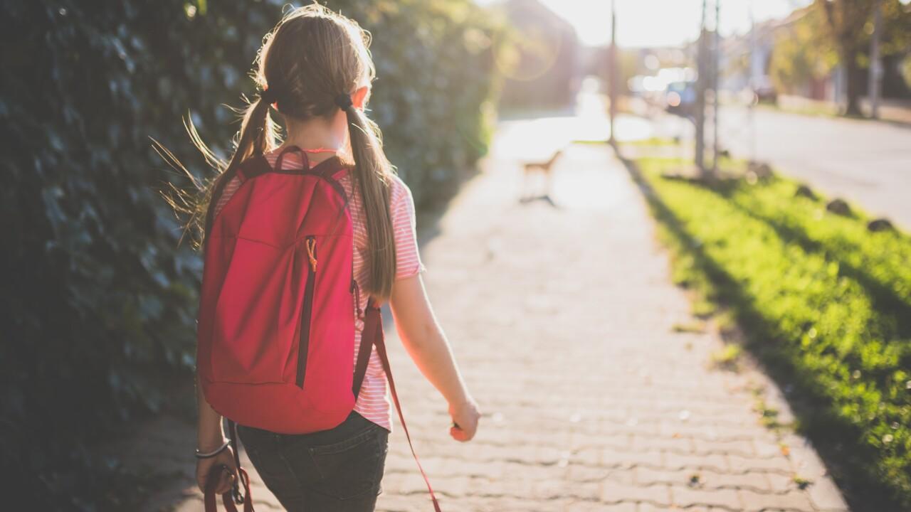 Wx walking to school