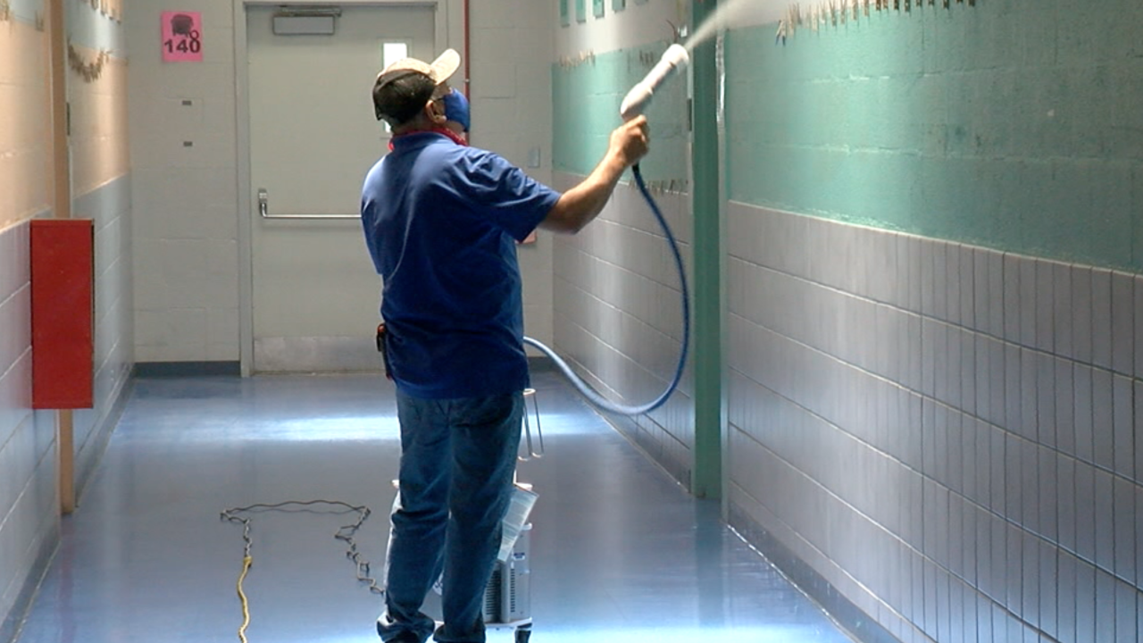Sunnyside uses hospital grade spraying to keep students safe