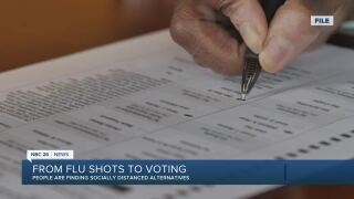 From flu shots to voting, it can be done in a socially distanced way