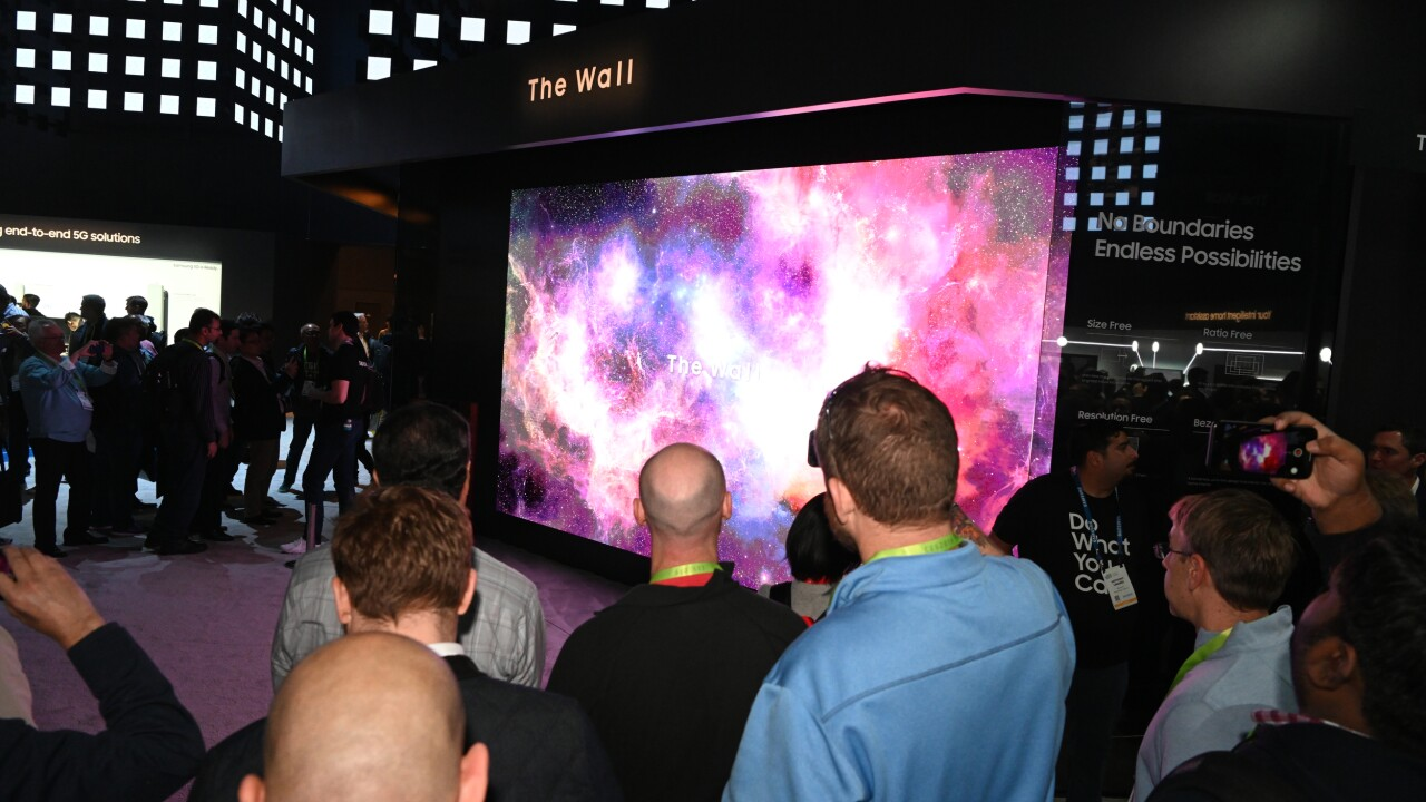 Samsung Unveils The Wall A 219 Inch Television