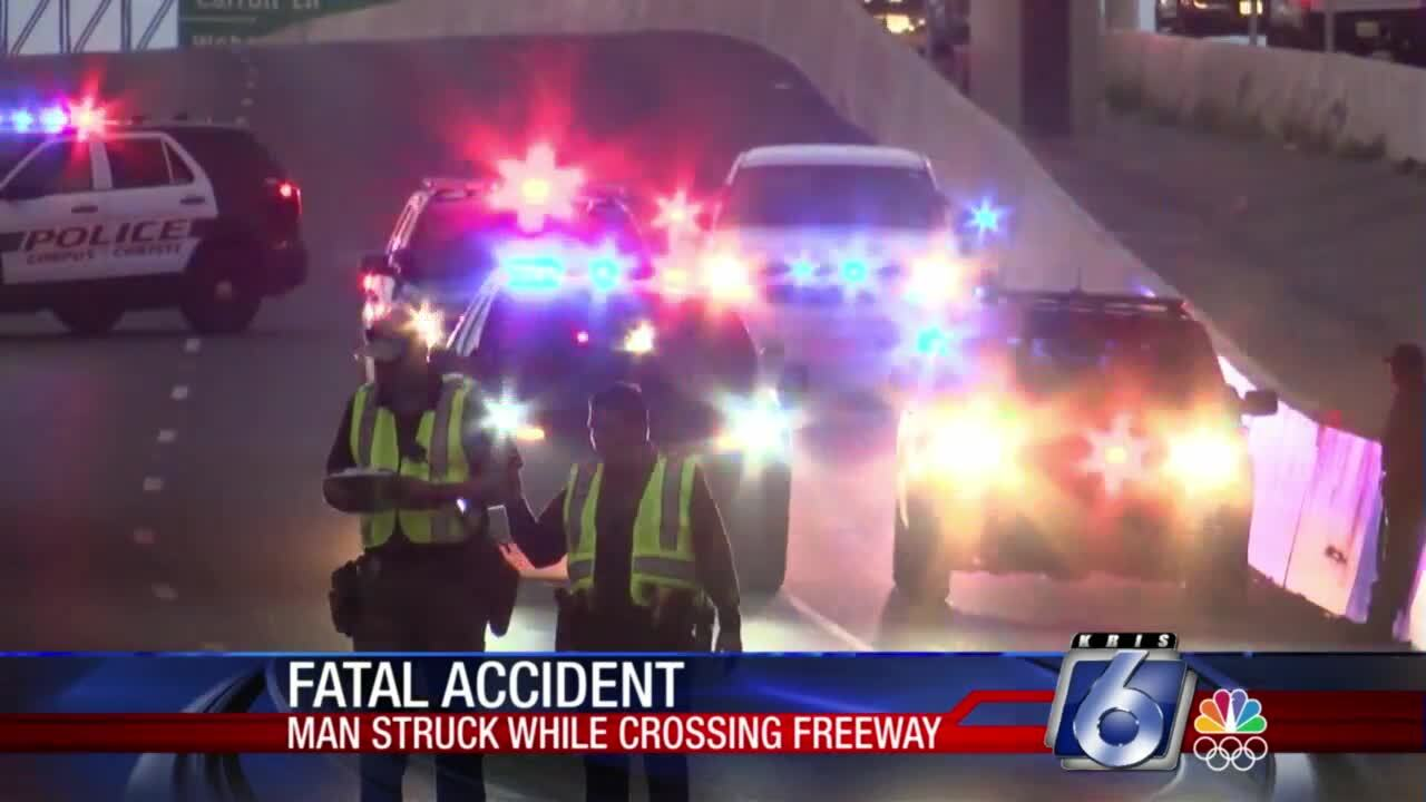 Pedestrian killed trying to cross State Highway 358 early Wednesday morning