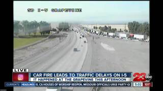 I-5 Car Fire Traffic