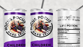 'Hocus Pocus' Tumblers Look Like White Claw Cans