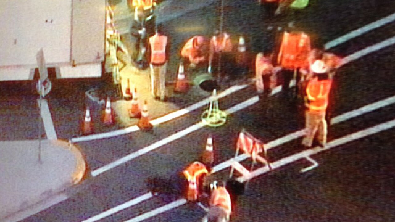 Sinkhole forms on Poway roadway