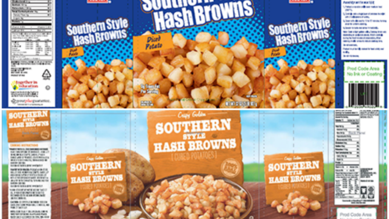 Recall: Frozen hash browns contaminated with 'golf ball materials'