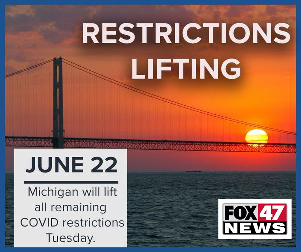 COVID-19 restrictions lifting in Michigan