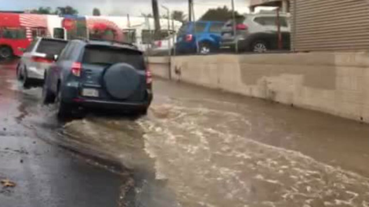 VIDEO: Flooding in North Park after water main break