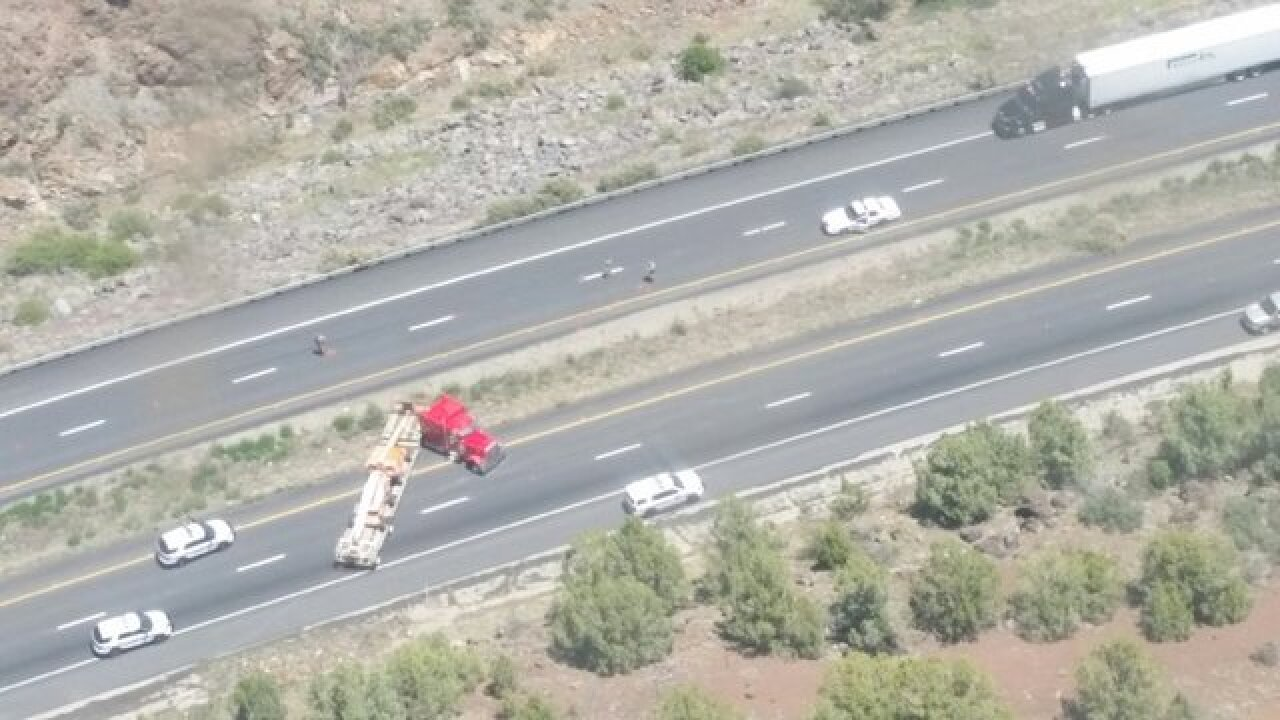 I-40 near Ash Fork closed after police chase