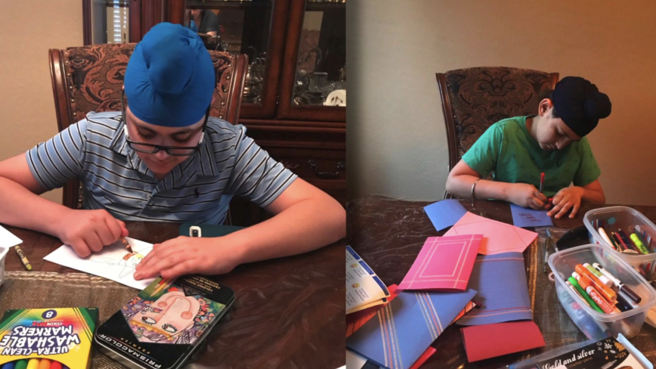Arizona brothers send hundreds of homemade cards to COVID-19 patients