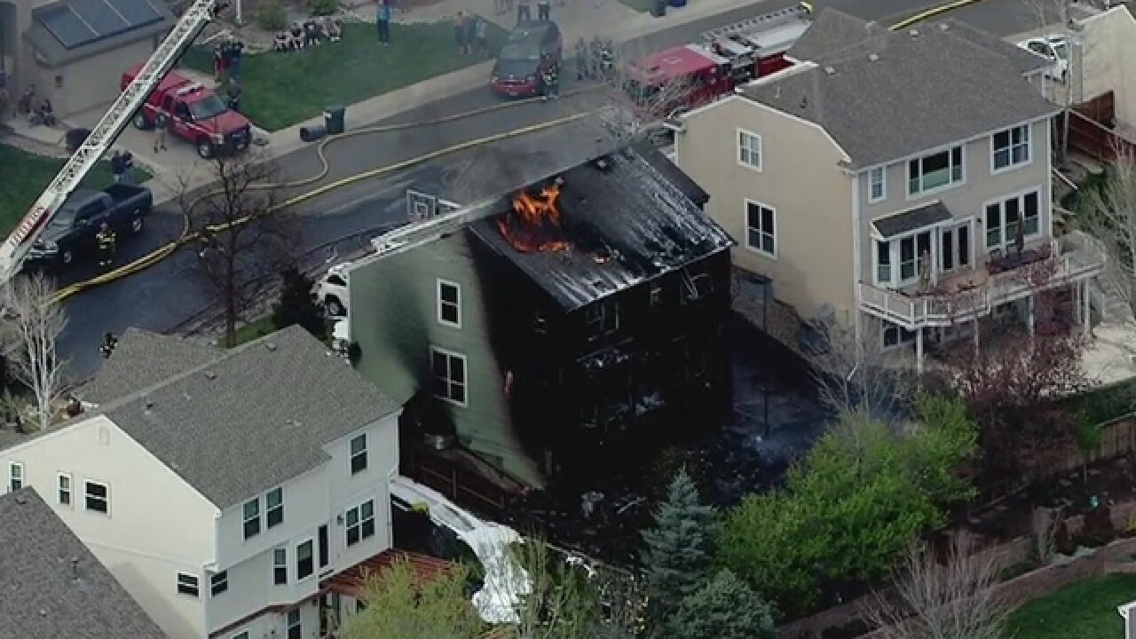 RIGHT NOW: House fire in Highlands Ranch