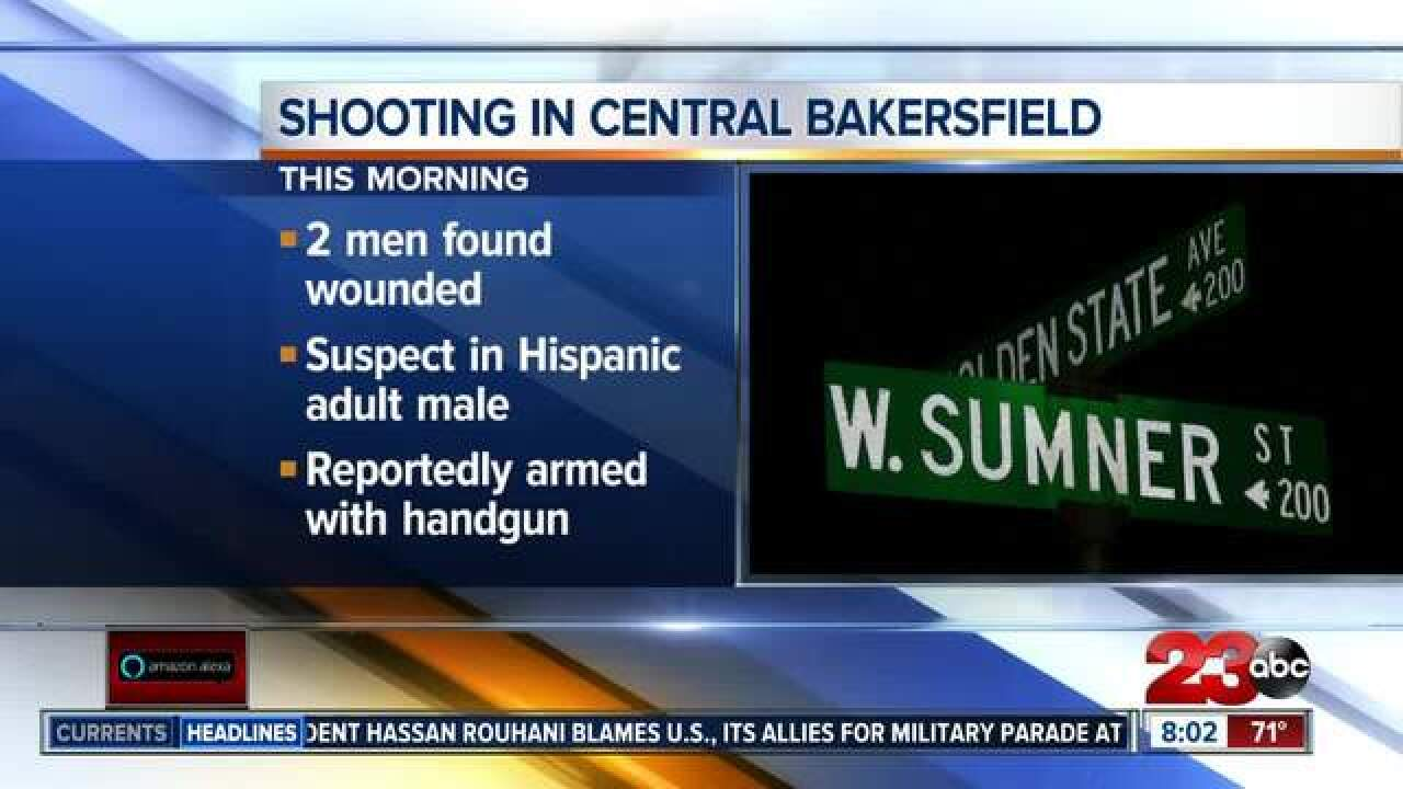 BPD investigating shooting that left two men wounded in central Bakersfield