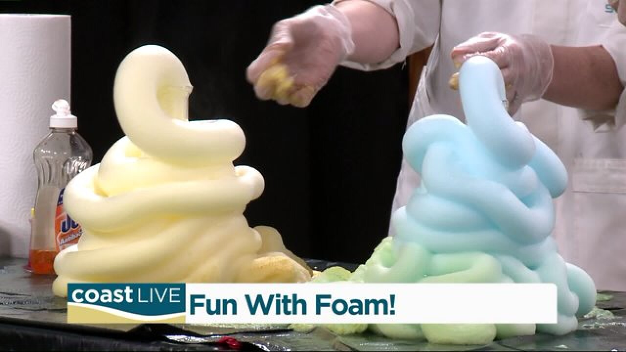 Mad fun with foam and a mad scientist on CoastLive