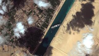 APTOPIX Egypt Suez Canal