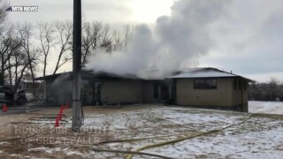 House fire south of Great Falls
