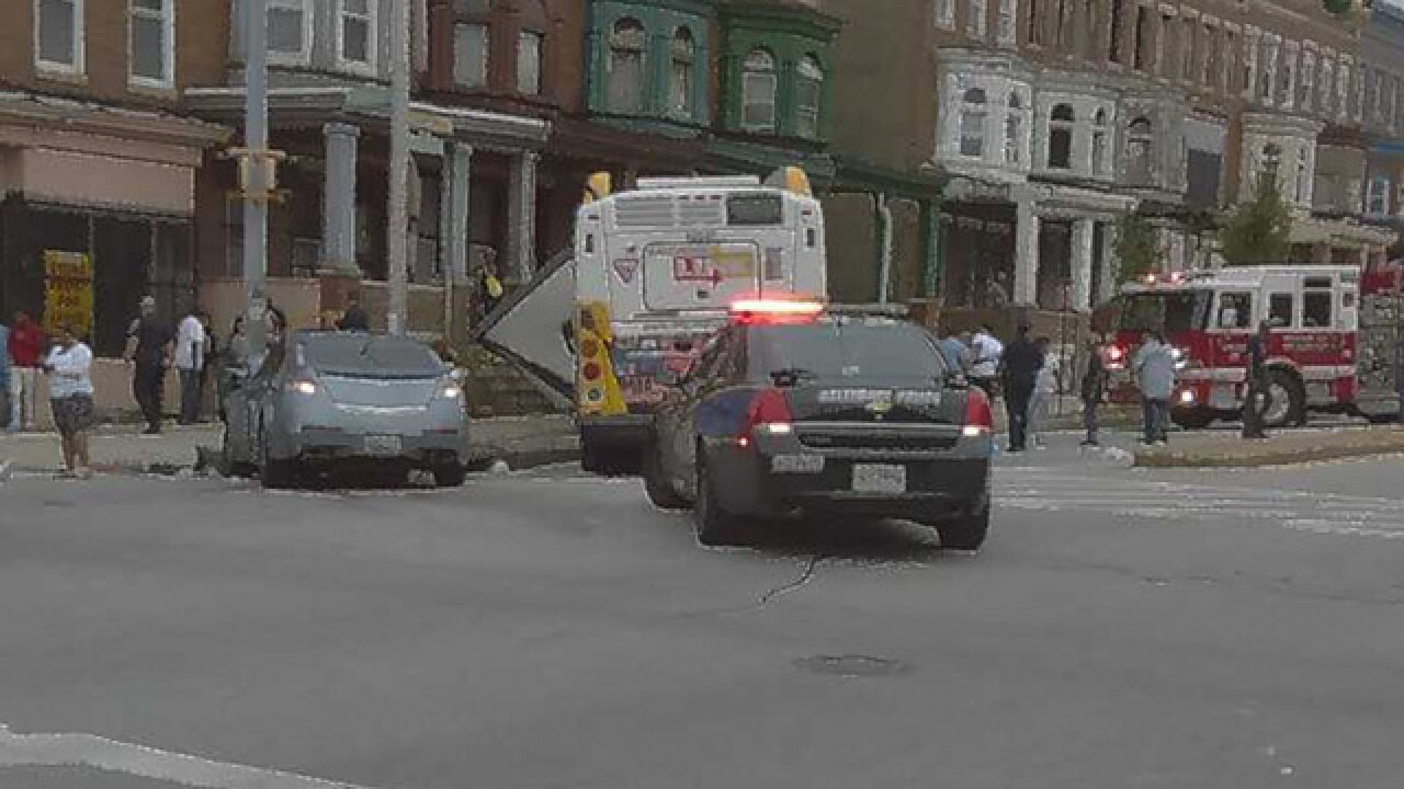 Police investigating bus crash in Baltimore