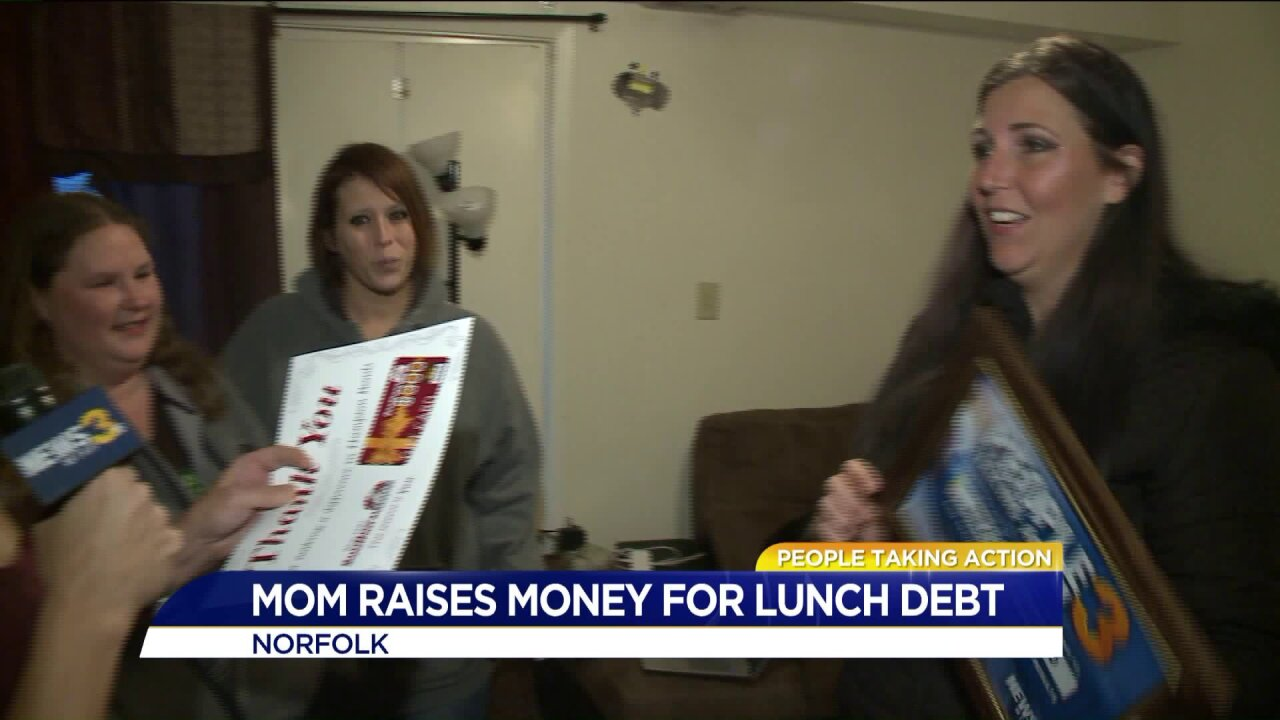 Navy mom raises money to help kids get hot lunches in Norfolk